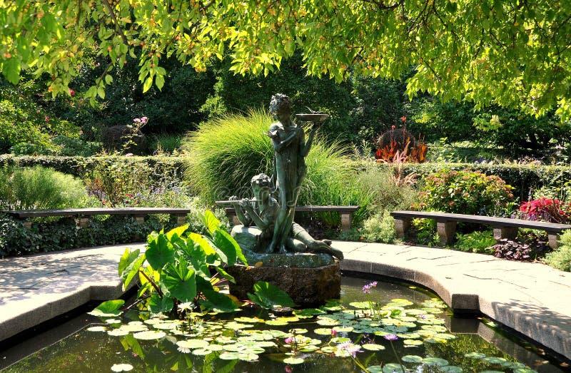 Download NYC: Wannen-Brunnen In Central Park Stockbild - Bild von gärten, betriebe: 27732925