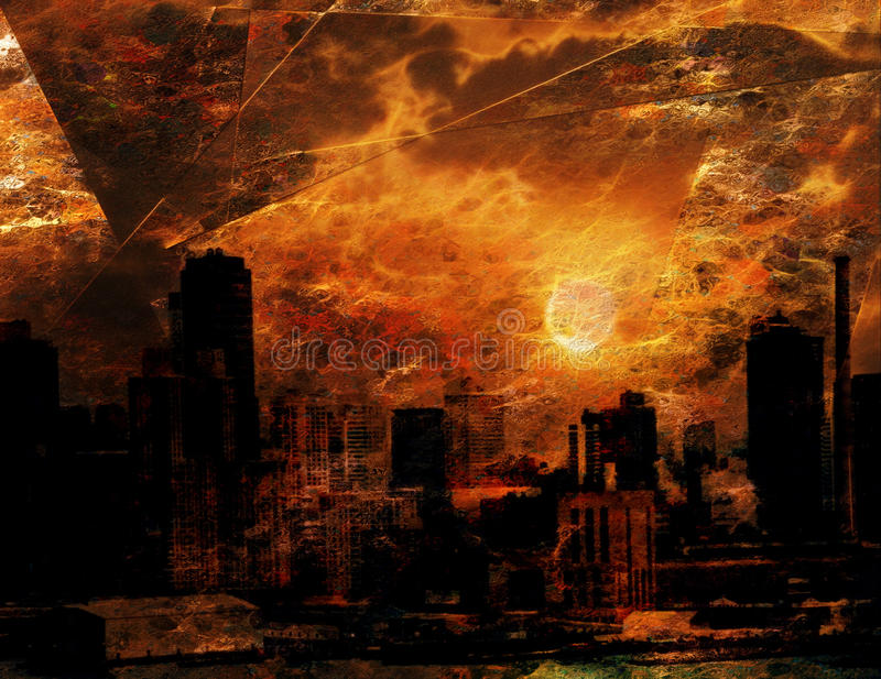 Download NYC Waterfront Abstraction stock illustration. Illustration of beauty - 39509719