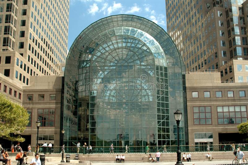 The Handsome Glass And Steel Winter Garden Atrium, Heavily Damaged During  The 9 11 01 Terrorist Attacks, Has Been Completely Rebuilt And Sits Between  The ...
