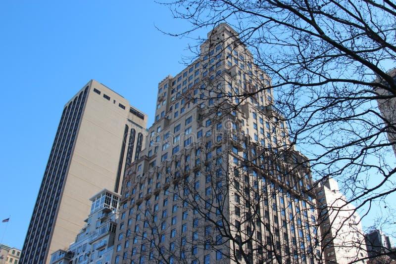 NYC-Wolkenkrabbers stock afbeeldingen