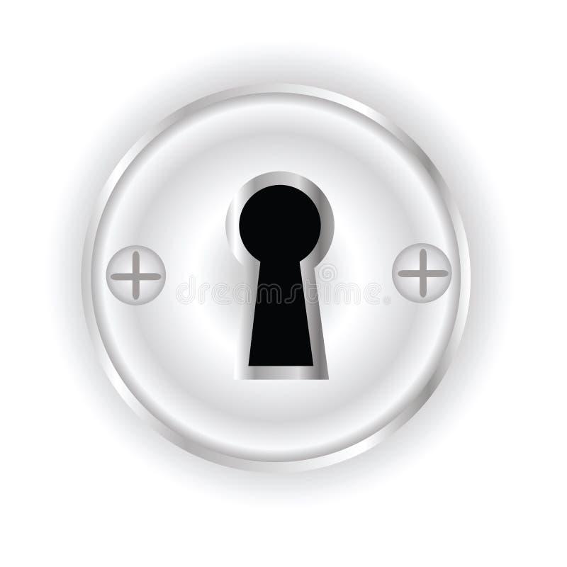 Nyckel- hål fotografering för bildbyråer