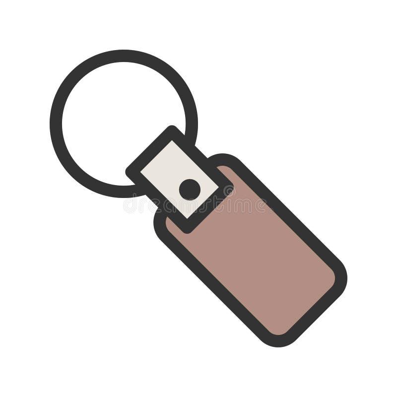 Nyckel- kedja stock illustrationer