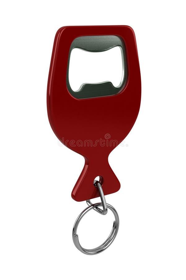 Nyckel- kedja för flasköppnare royaltyfri illustrationer