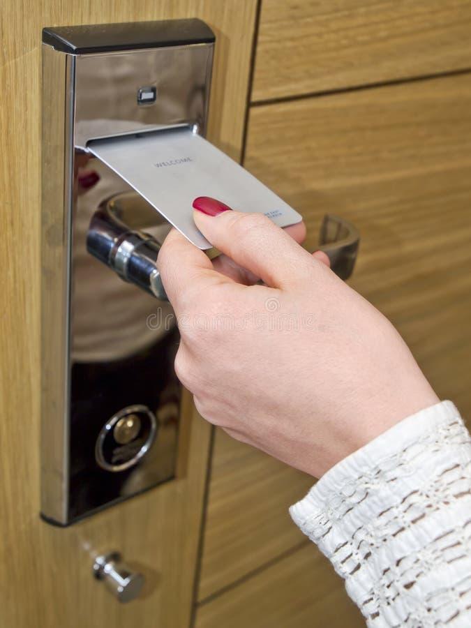 Nyckel- kort för hotelldörr royaltyfri bild