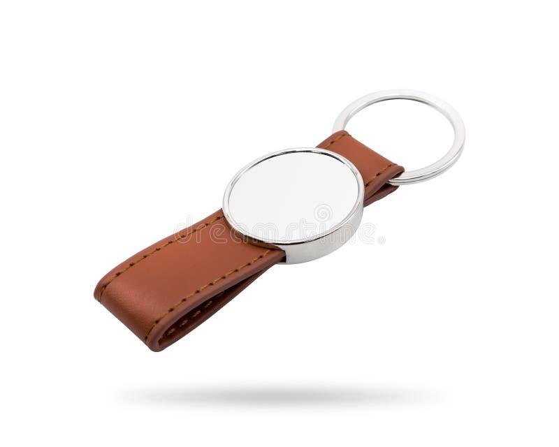 Nyckel- l?der ringer Nyckel- kedja f?r mode f?r din design r Oval form arkivfoto