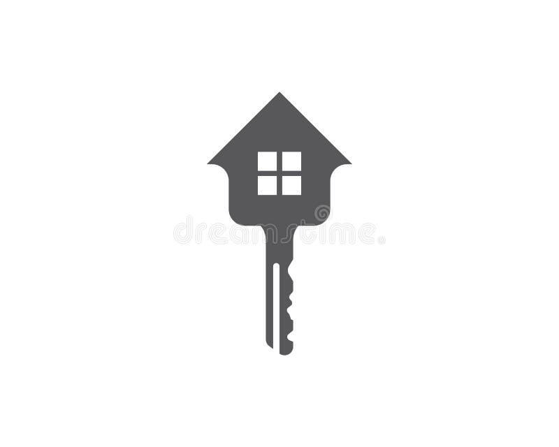 Nyckel- logomall vektor illustrationer