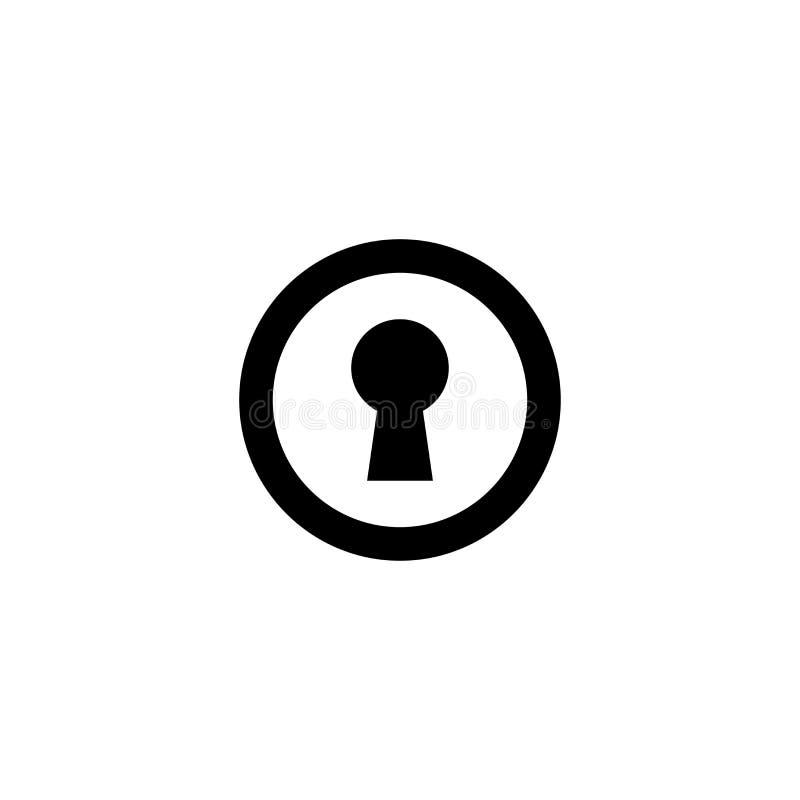 Nyckel- springasymbol Rengöringsdukavskildhetstecken royaltyfri illustrationer