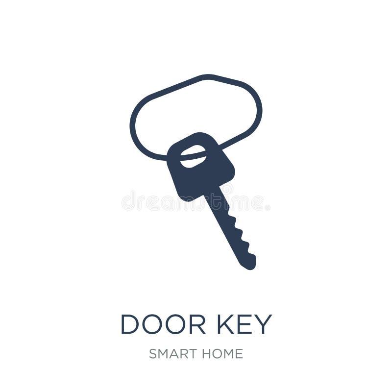 Nyckel- symbol för dörr  vektor illustrationer