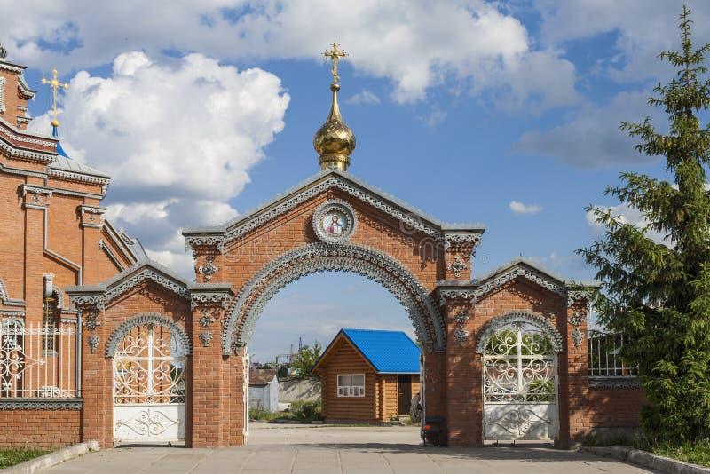 Nyckel till templet i hedern av modern av guden Stad Cheboksary, Chuvashrepublik, Ryssland 05/04/2016 royaltyfri fotografi