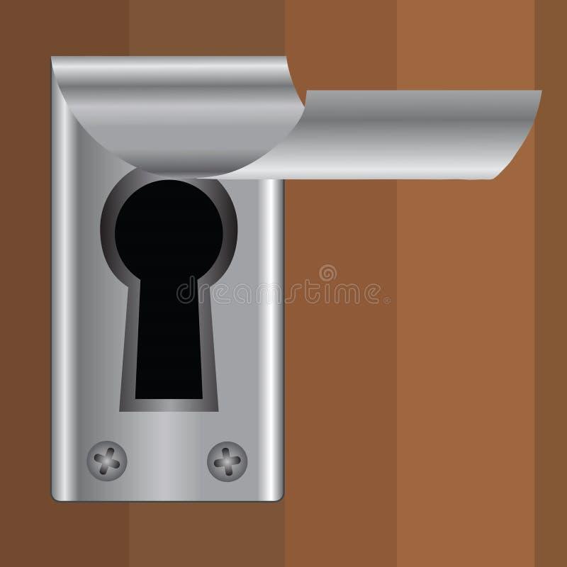 Nyckelhål vektor illustrationer