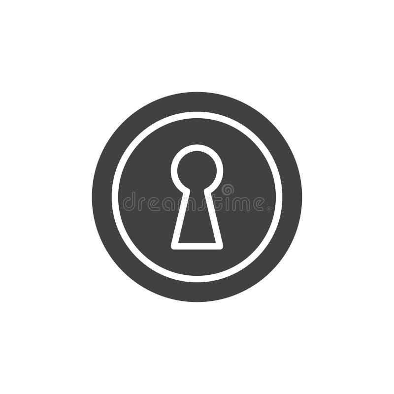 Nyckelhålsymbolsvektor stock illustrationer