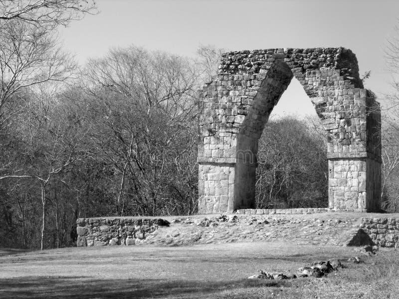 Nyckeln Mayan Kabah fördärvar royaltyfri fotografi
