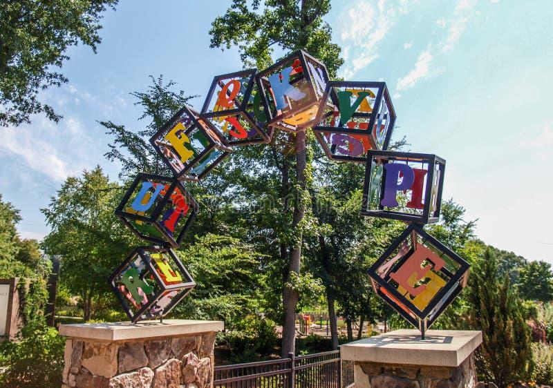 Nyckelträdgårdar i Greensboro, North Carolina royaltyfria bilder