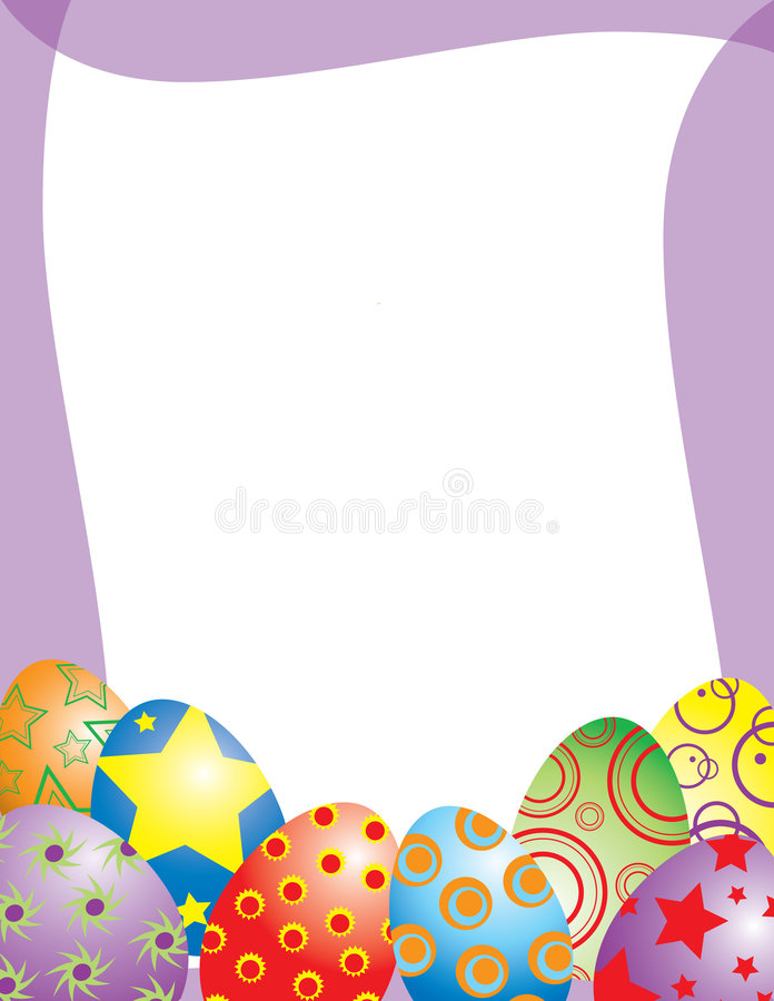 nyckfull easter äggram stock illustrationer