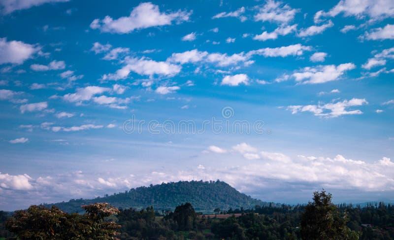 Nyeri Hill Kenya. Sky, afternoon royalty free stock photography