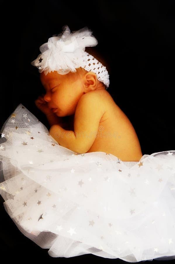 Nyfödd baby Girl fotografering för bildbyråer