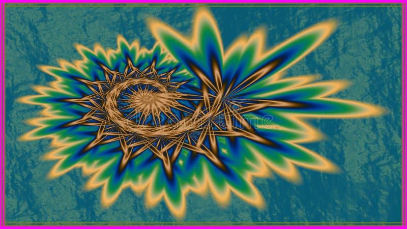 Nyfödd fractal stock illustrationer
