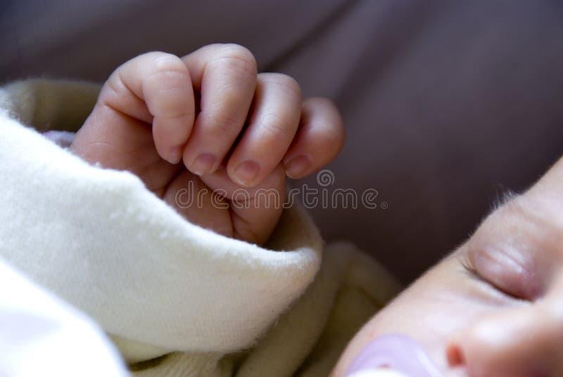 nyfödd hand royaltyfria foton