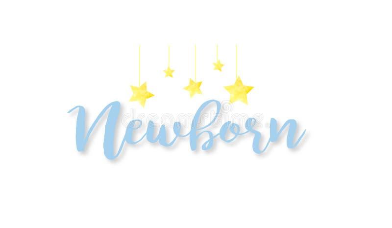 Nyfödd logo fotografering för bildbyråer