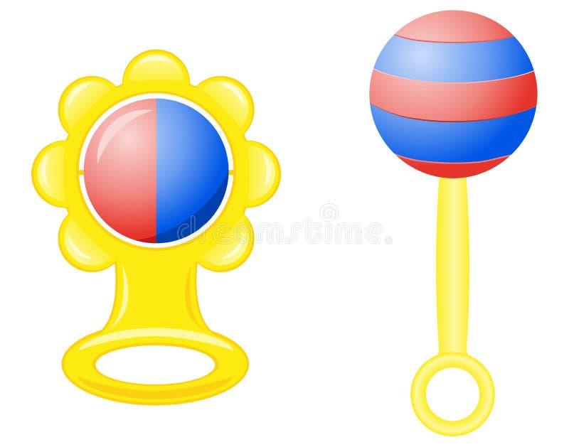 nyfödd rattlevektor för illustration royaltyfri illustrationer
