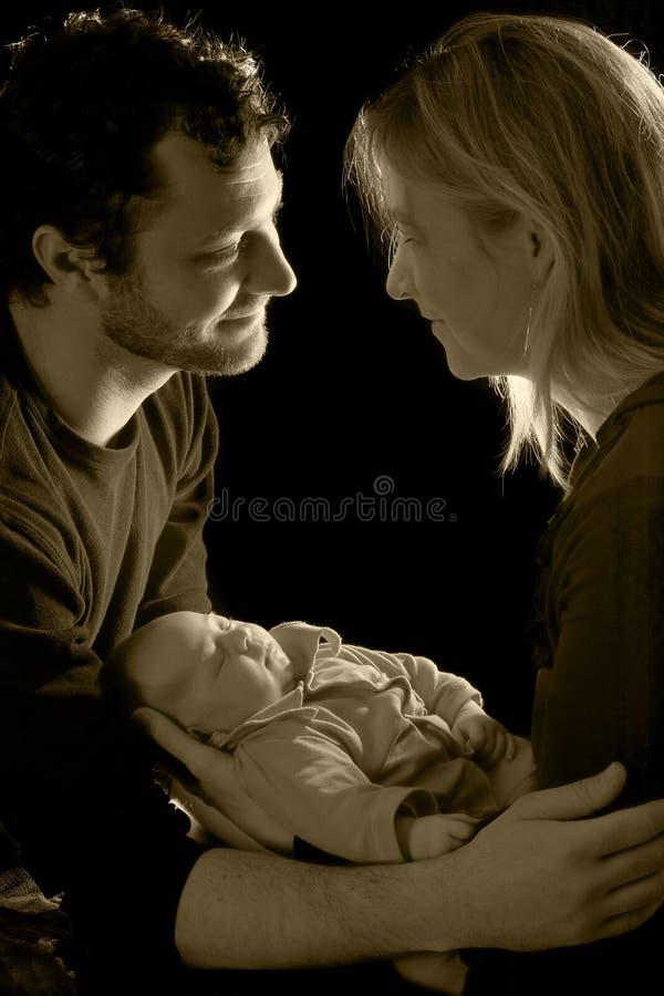 nyfött barn arkivfoto