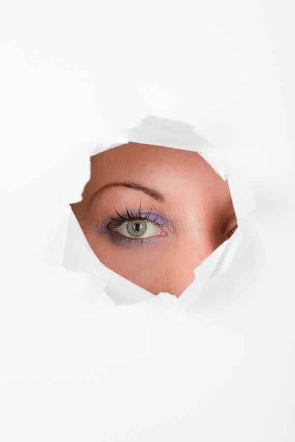 nyfiken ögonspion arkivbilder