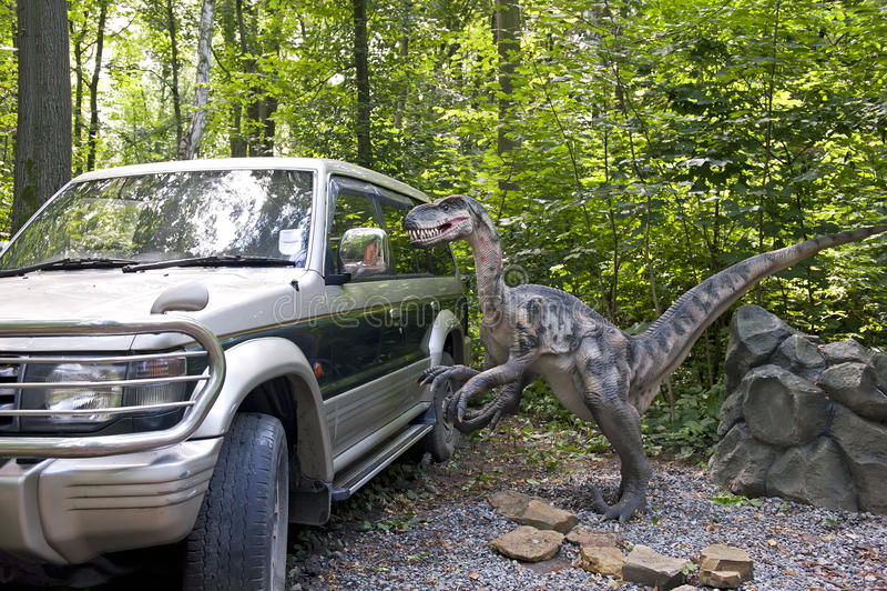 nyfiken dinosaur arkivbild