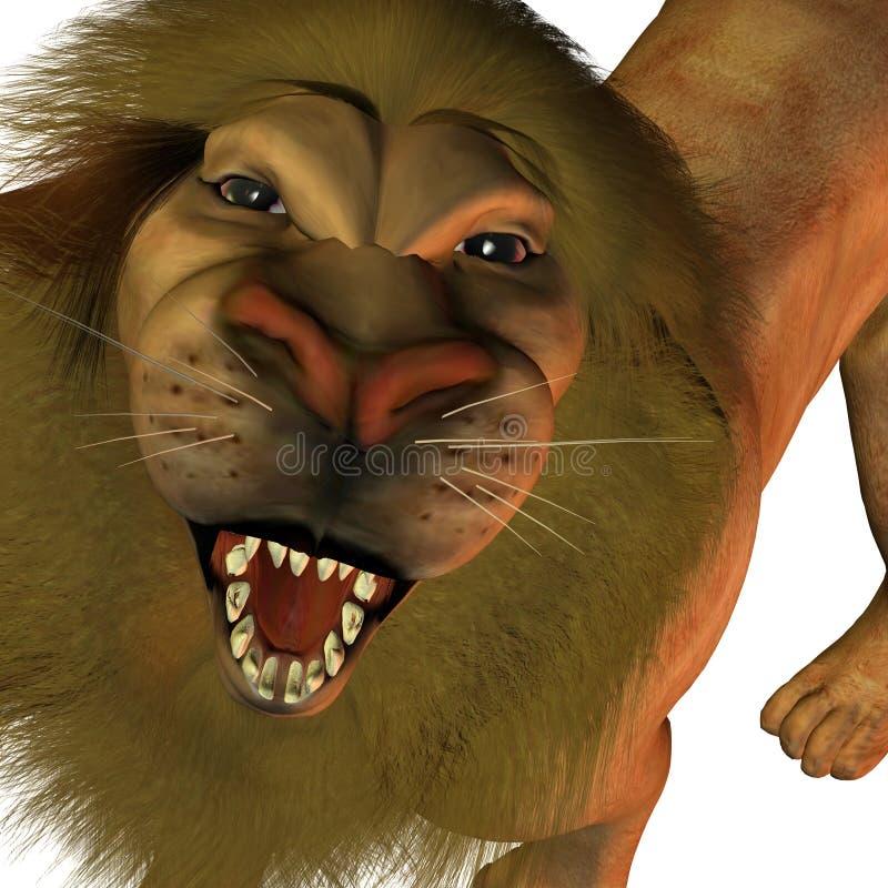 nyfiken lion vektor illustrationer