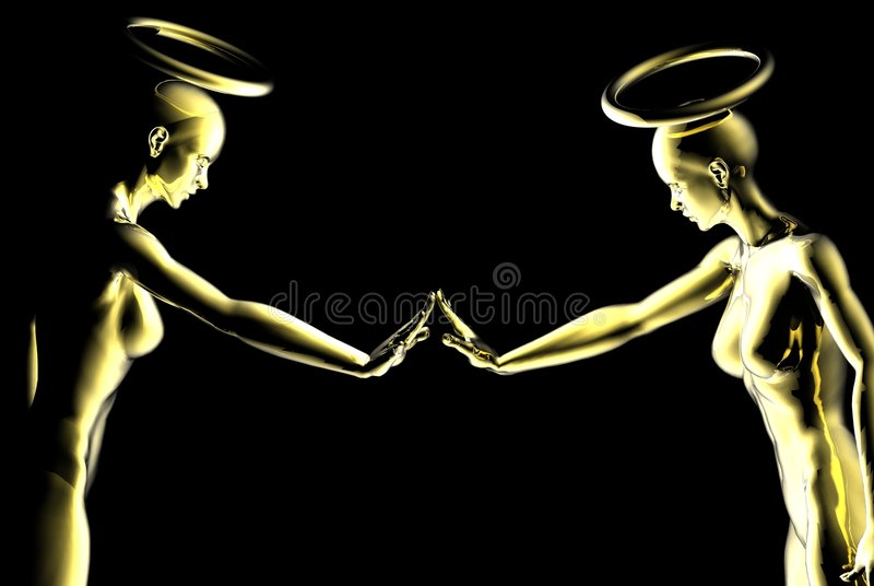 Nyfikna änglar Royaltyfria Foton