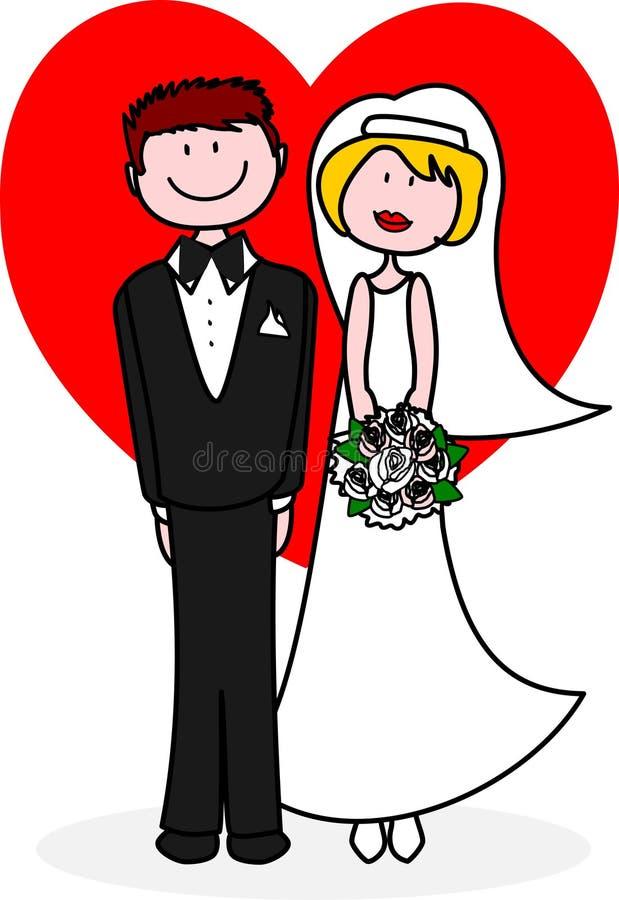nygift person vektor illustrationer