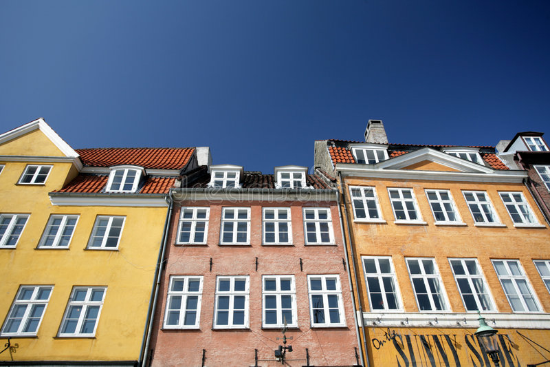 Nyhahvn in copenhagen royalty free stock photos