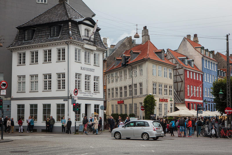 Nyhaven-Bezirk von Kopenhagen, Dänemark stockbilder