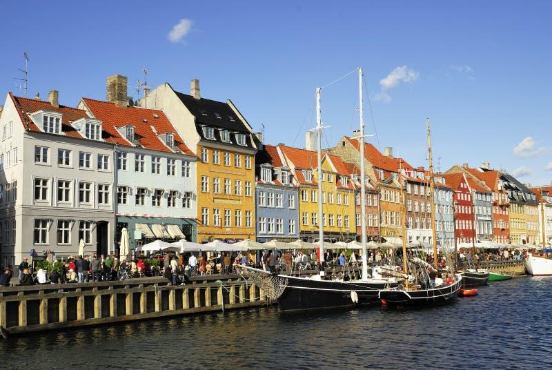 Nyhavn à Copenhague photographie stock