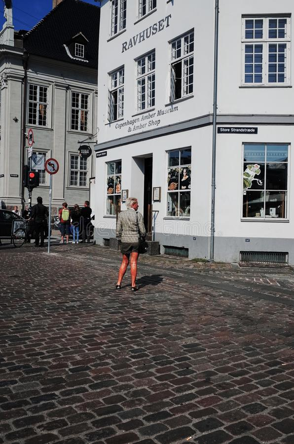 Nyhavn È un lungomare, un canale e un distretto del XVII secolo di spettacolo a Copenhaghen, Danimarca immagine stock libera da diritti