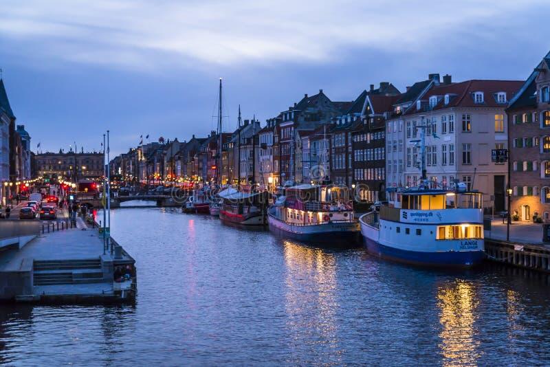Nyhavn ή νέο λιμάνι, Κοπεγχάγη, Δανία στοκ φωτογραφία με δικαίωμα ελεύθερης χρήσης