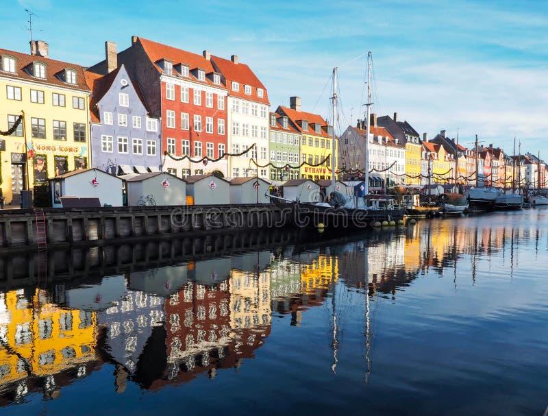 Nyhavn Дания стоковые фотографии rf