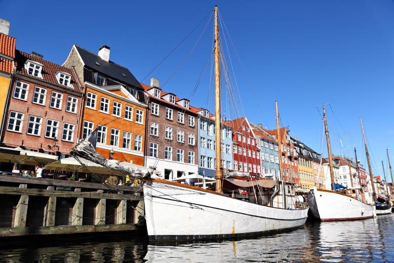 Nyhavn (新的港口) Coppenhagen 图库摄影