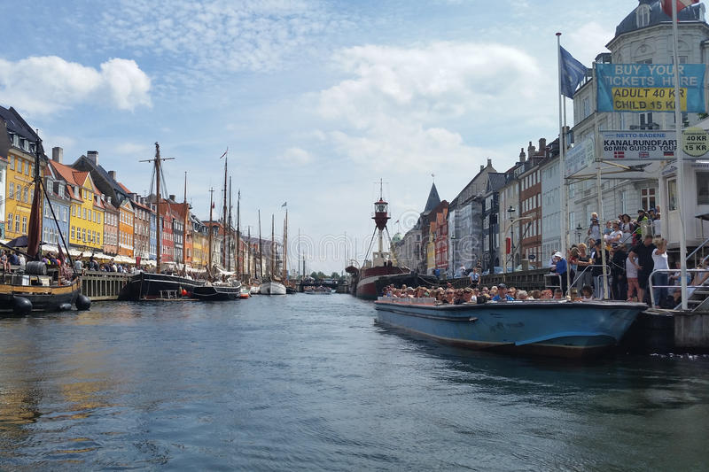 Nyhavn canal in Denmark royalty free stock photo