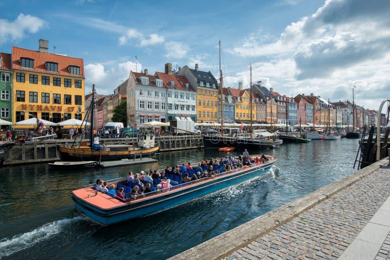 Nyhavn, Copenhaga imagens de stock
