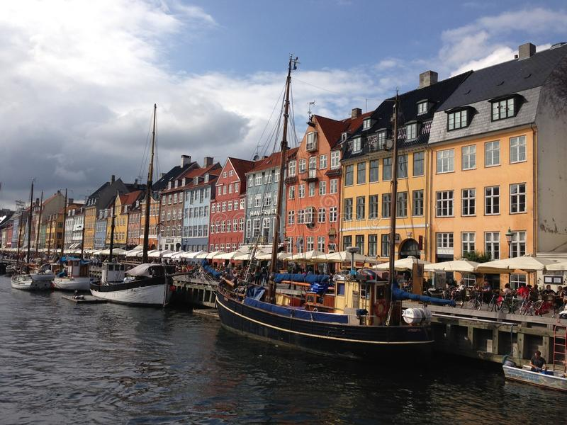 Nyhavn, Copenhaga imagem de stock