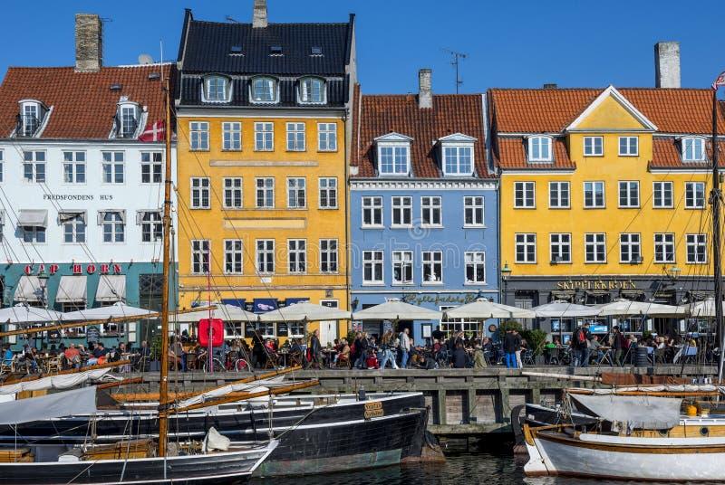 nyhavn copenhagen Дании стоковое фото