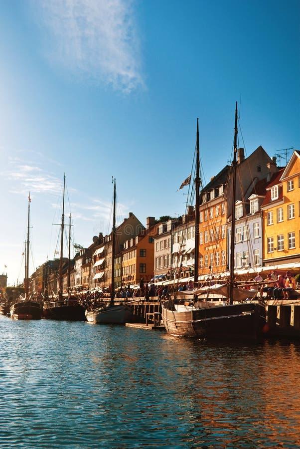 Nyhavn in Copenhagen stock photography