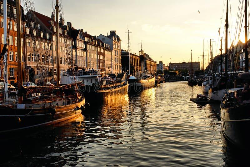 Nyhavn, Copenhaghen fotografie stock