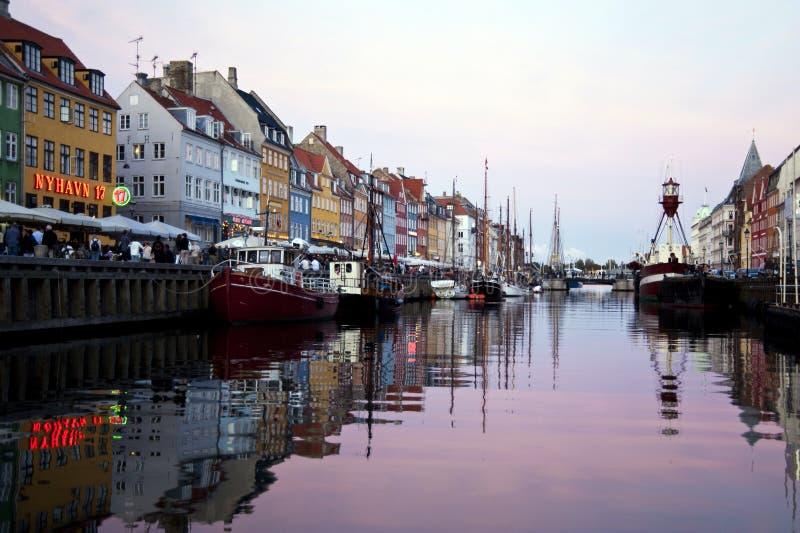 Nyhavn Copenhaghen immagini stock libere da diritti