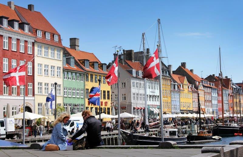 Nyhavn, Copenhaghen, Danimarca fotografie stock libere da diritti