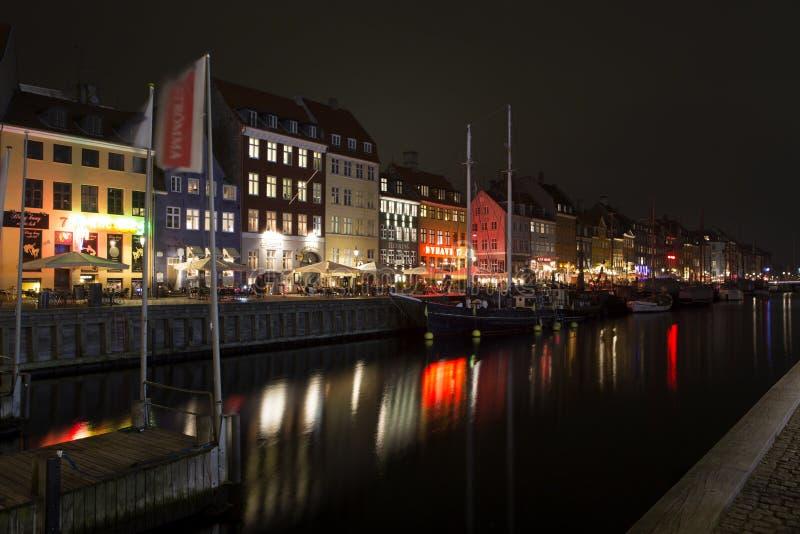Nyhavn a Copenhaghen, Danimarca fotografia stock libera da diritti
