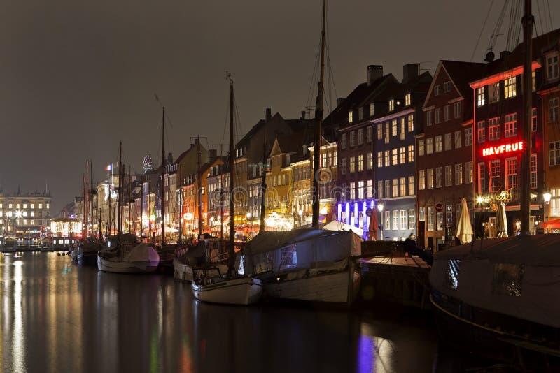 Nyhavn a Copenhaghen, Danimarca fotografie stock libere da diritti