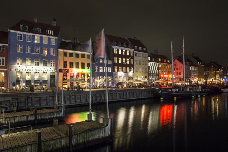 Nyhavn a Copenhaghen, Danimarca immagine stock