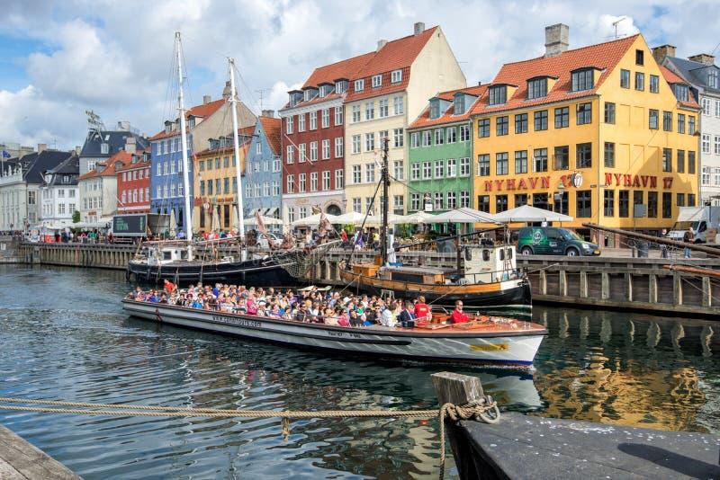 Nyhavn, Copenhague fotografía de archivo