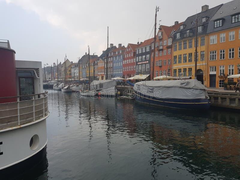 Nyhavn Copenhague fotos de archivo